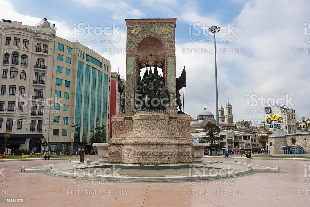 Independence Monument in Taksim Square stock photo