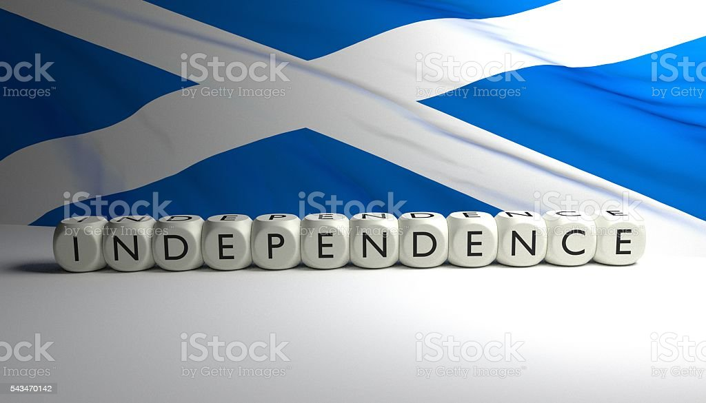Independence of Scotland from UK stock photo