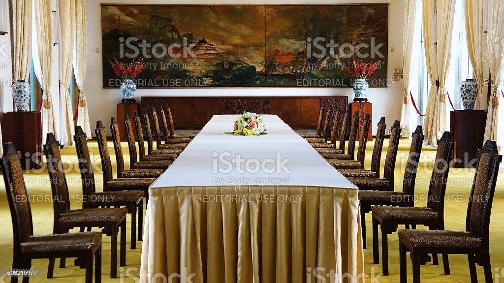 Independence Palace interior, Ho Chi Minh stock photo