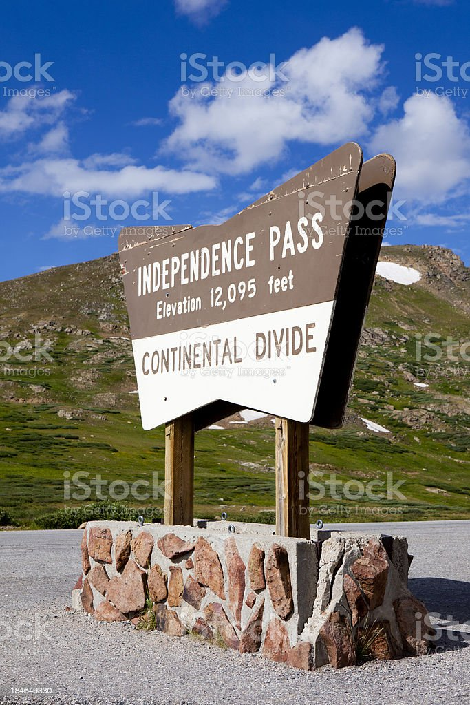 Independence Pass Continental Divide, Colorado USA stock photo