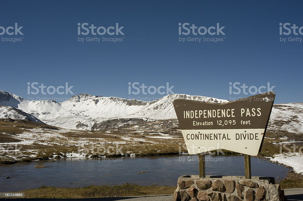 Independence Pass in Fall stock photo