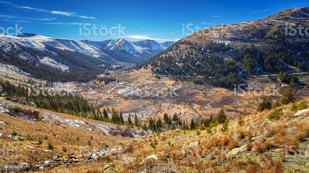 Independence Pass mountain landscape, Colorado, USA. stock photo