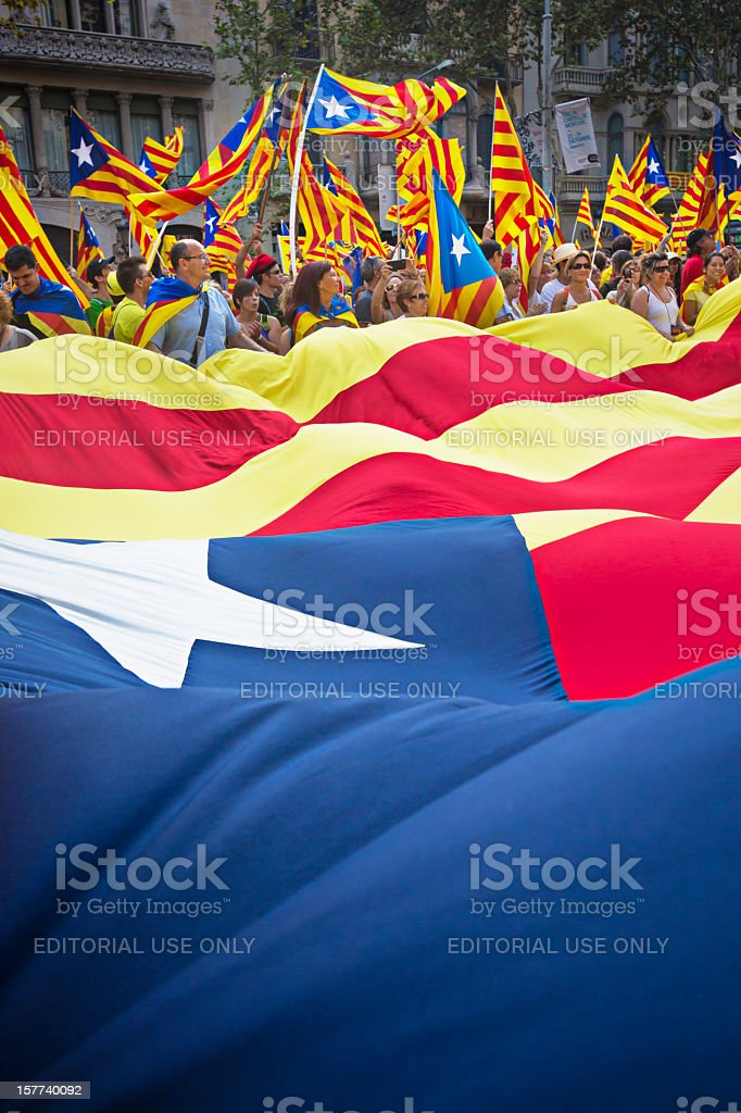 Independence protest stock photo