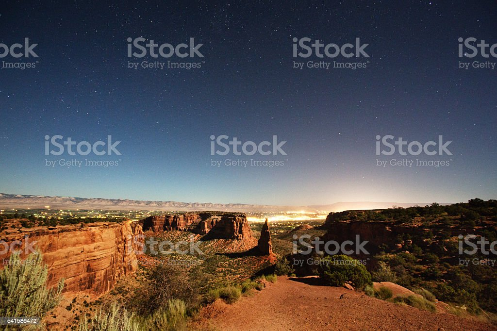 Independence Rock Colorado National Monument Near Grand Junction stock photo