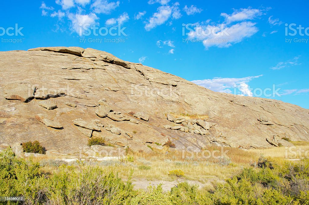 Independence Rock stock photo