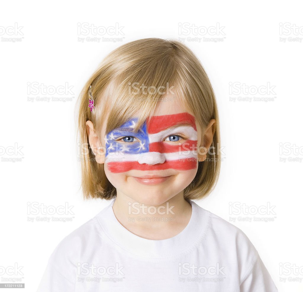 Independence smile royalty-free stock photo