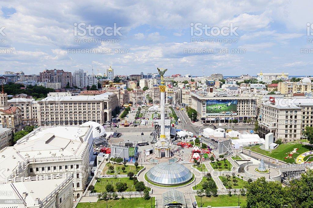 Independence Square in Kiev, Ukraine stock photo
