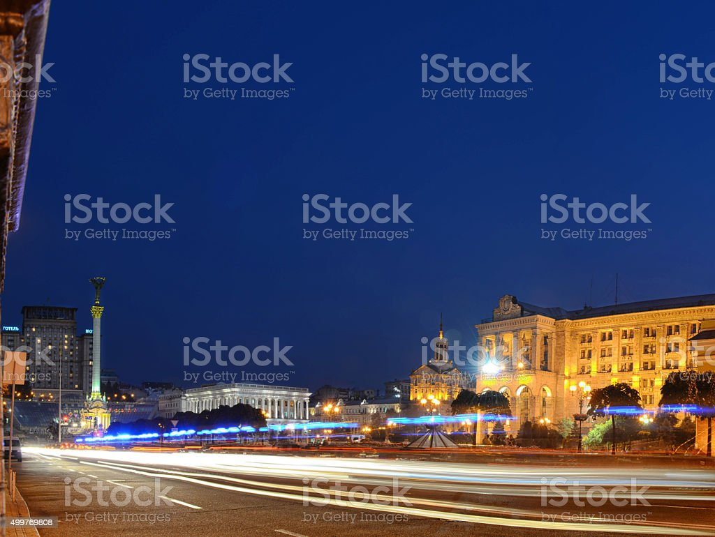 Independence square, the main square of Kyiv stock photo