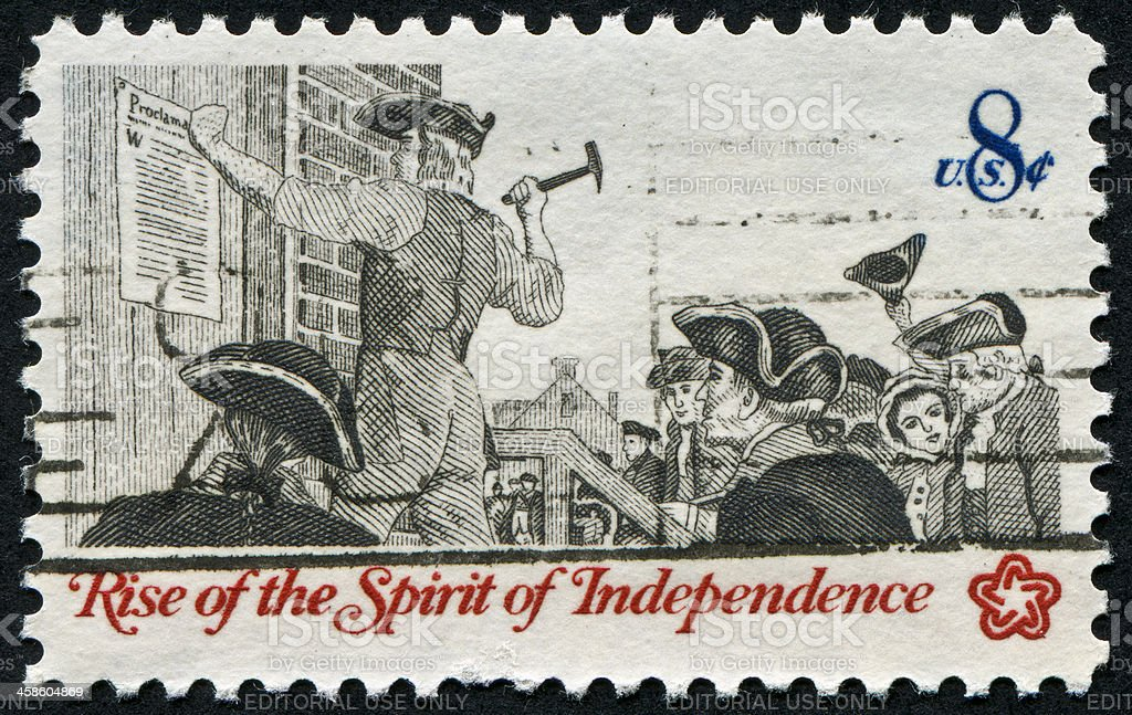 Independence Stamp stock photo