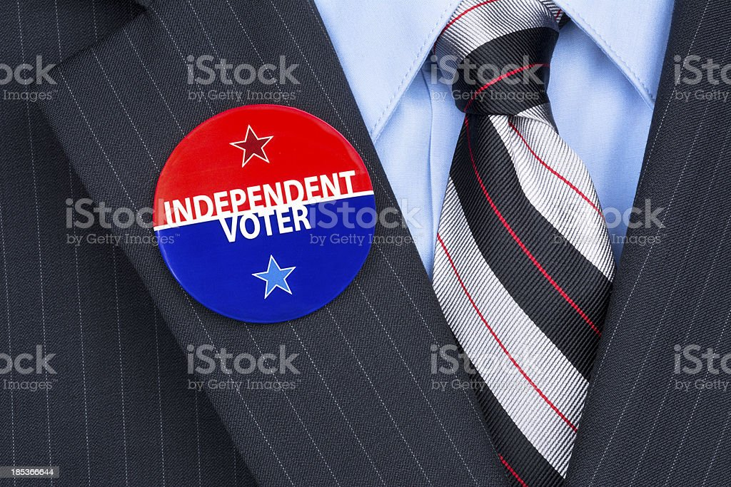 Independent voter pin stock photo