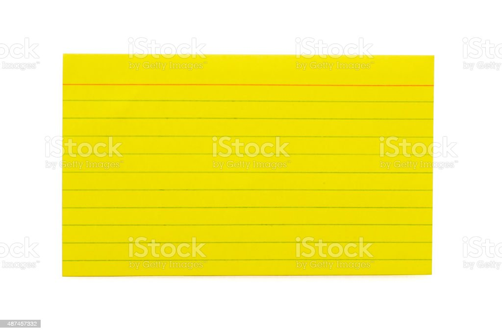 Index Card 1 stock photo
