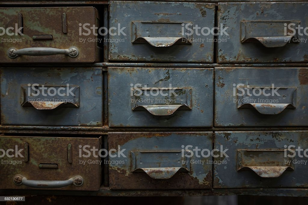 Index Card Catalogue stock photo