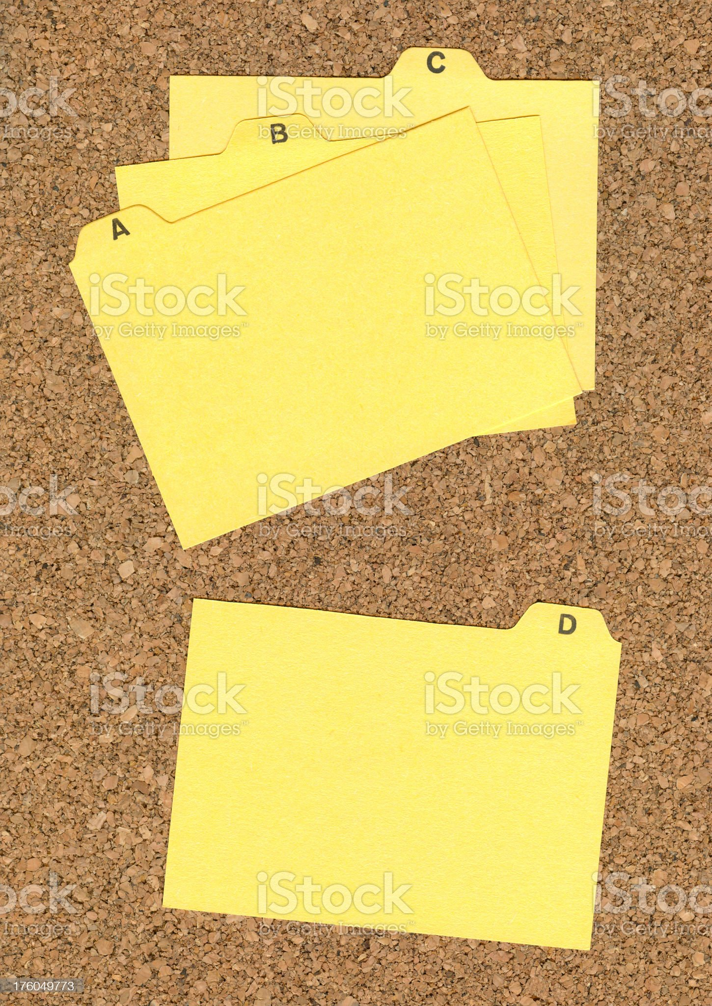 Index Card on Cork royalty-free stock photo