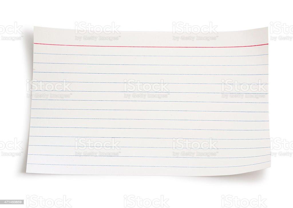 Index card stock photo