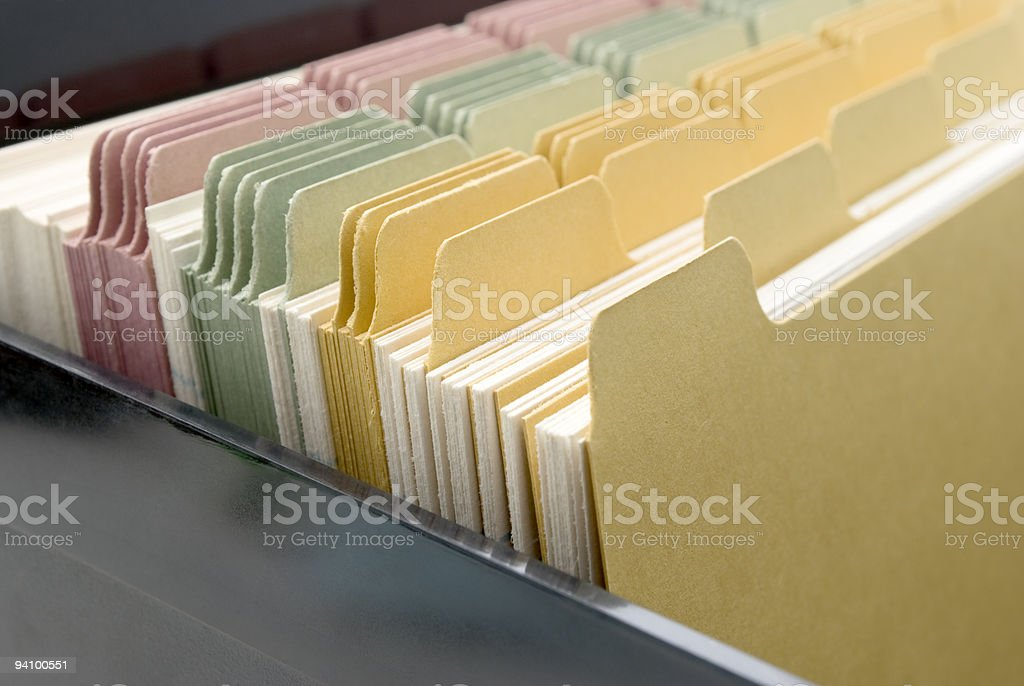 Index Cards Close-up royalty-free stock photo
