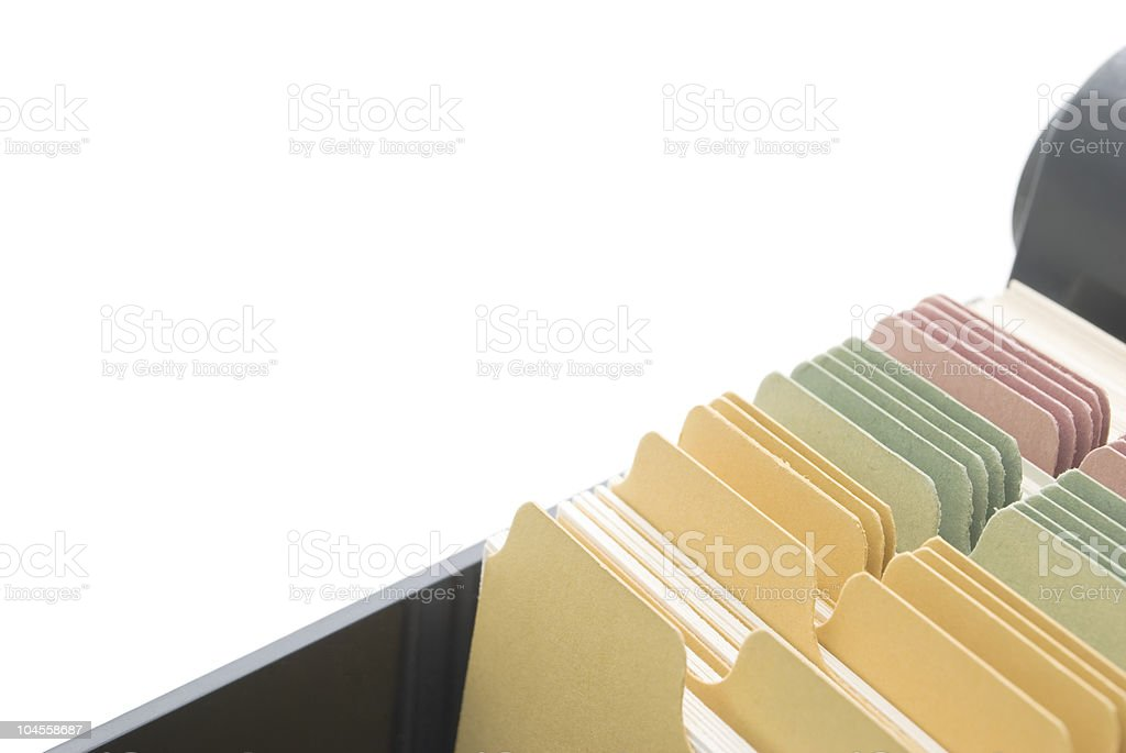 Index Cards - Isolated with Copy Space royalty-free stock photo