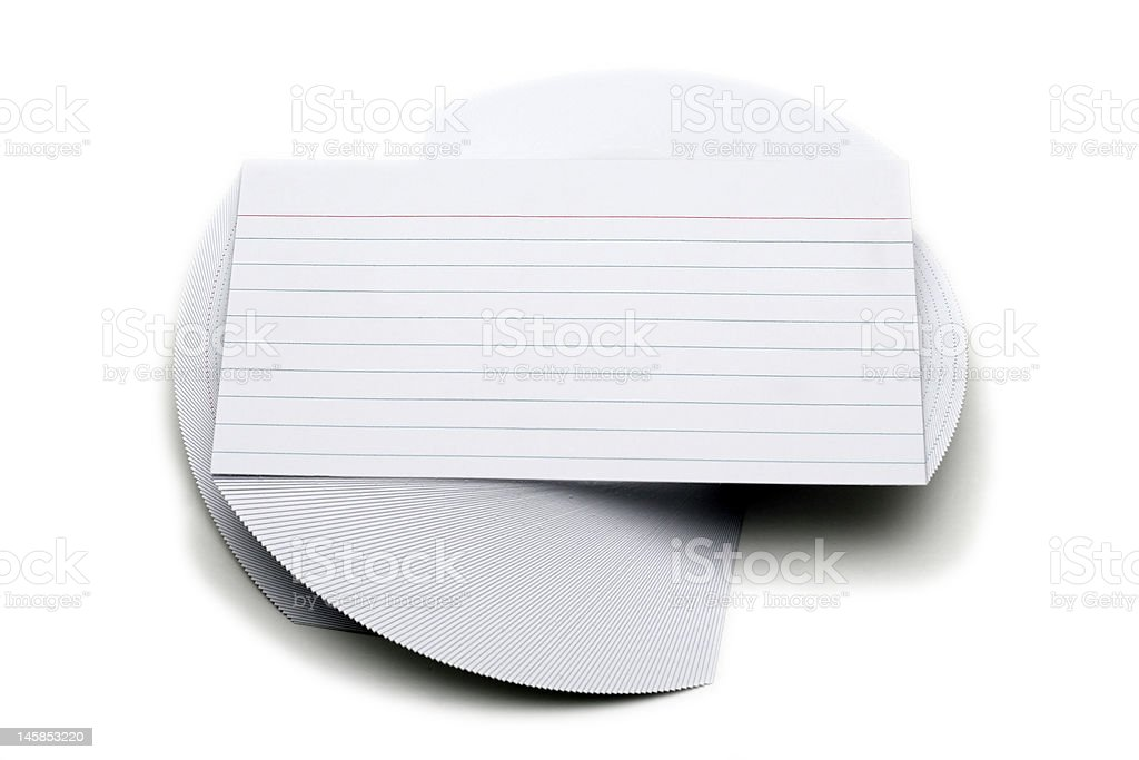 Index Cards - Spiral Pattern royalty-free stock photo
