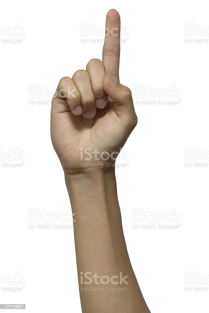 Index Finger with clipping path royalty-free stock photo