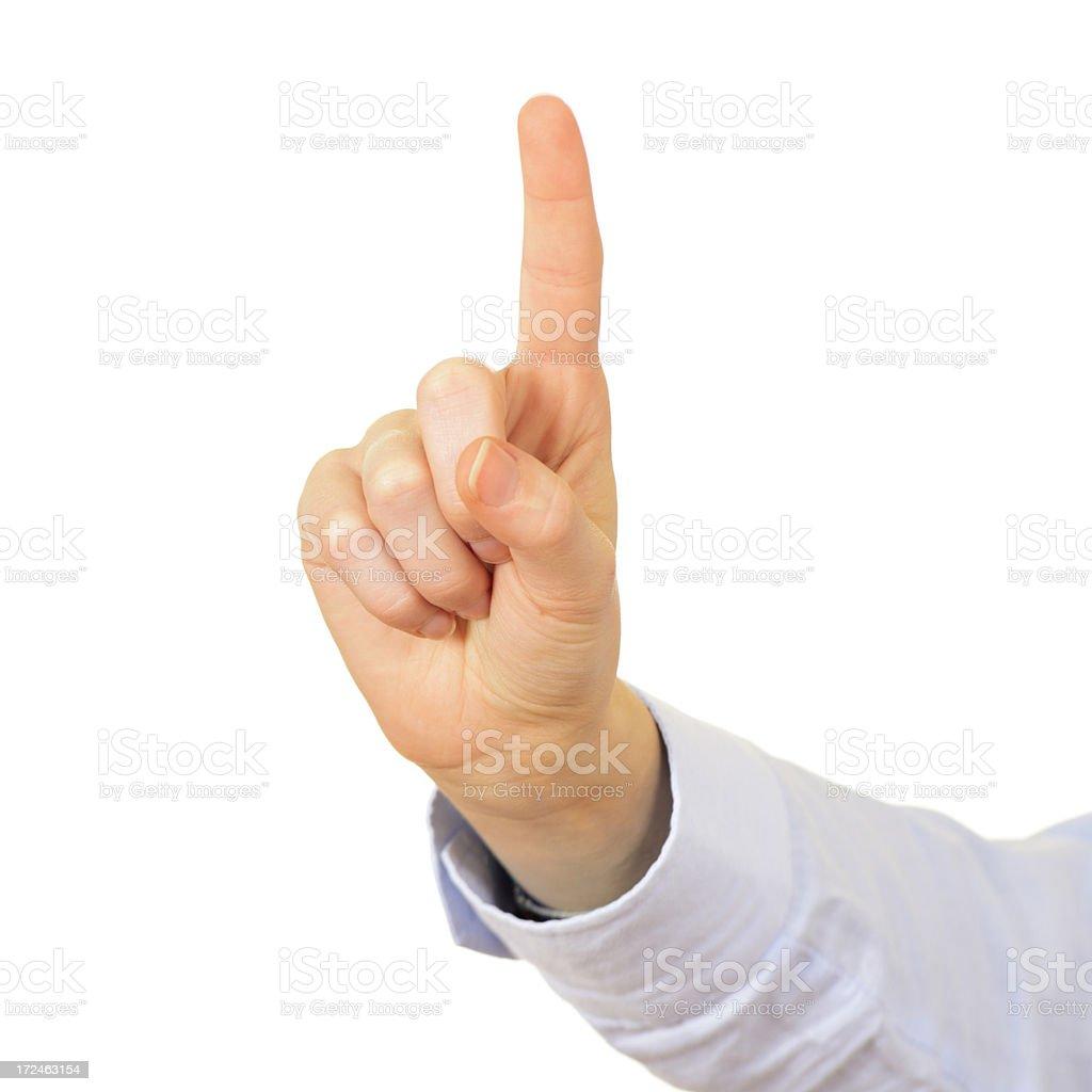 Index Finger.Isolated royalty-free stock photo