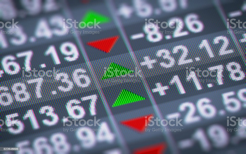 Index on a screen. Looping. stock photo