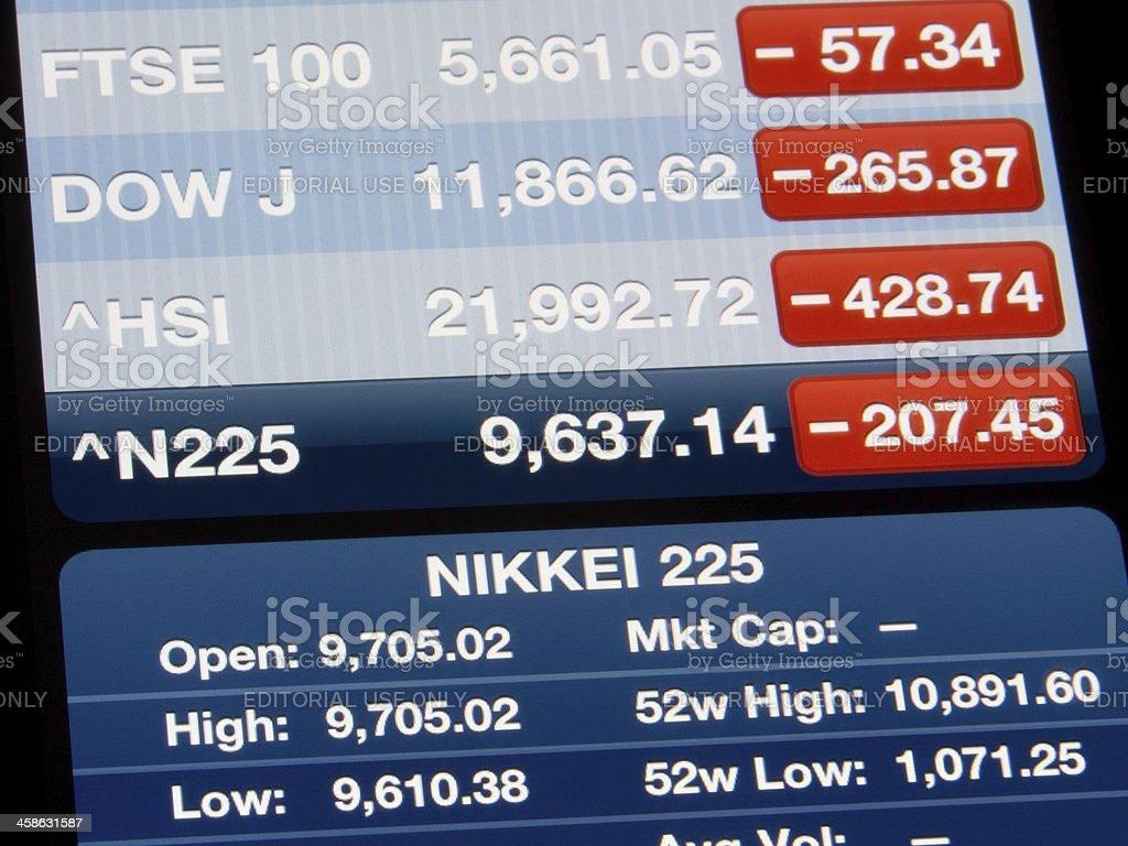NIKKEI 225 Index stock photo