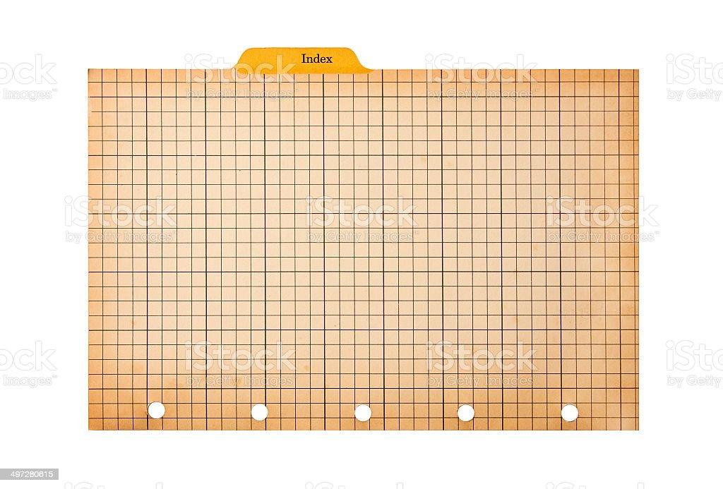 Index stock photo