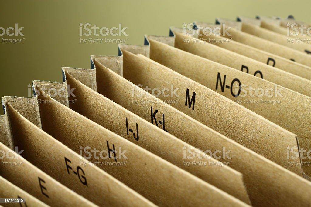 Indexed Folder stock photo