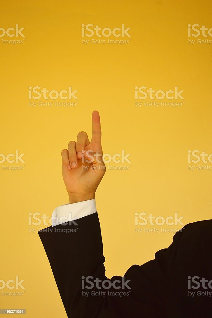 Indexing up sign stock photo