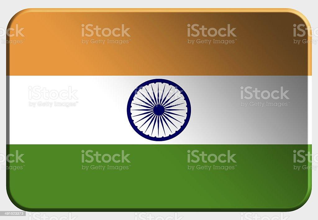 India 3D button on white background stock photo