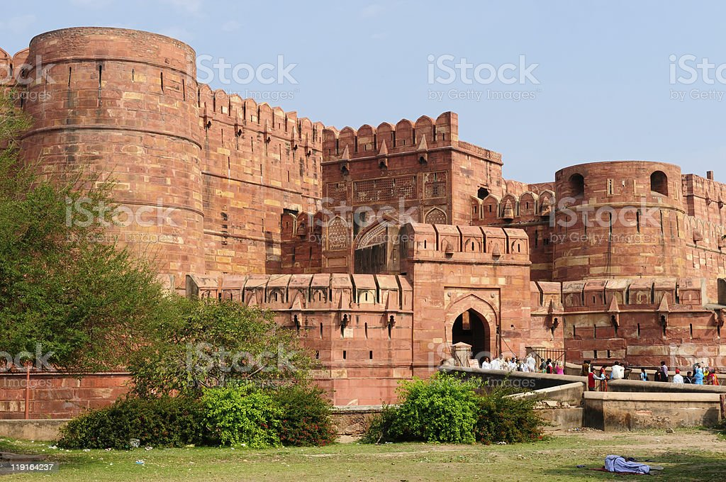 India, Agra Fort stock photo