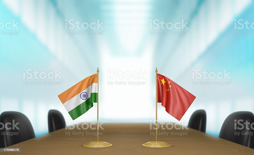 India and China economic trade deal talks stock photo