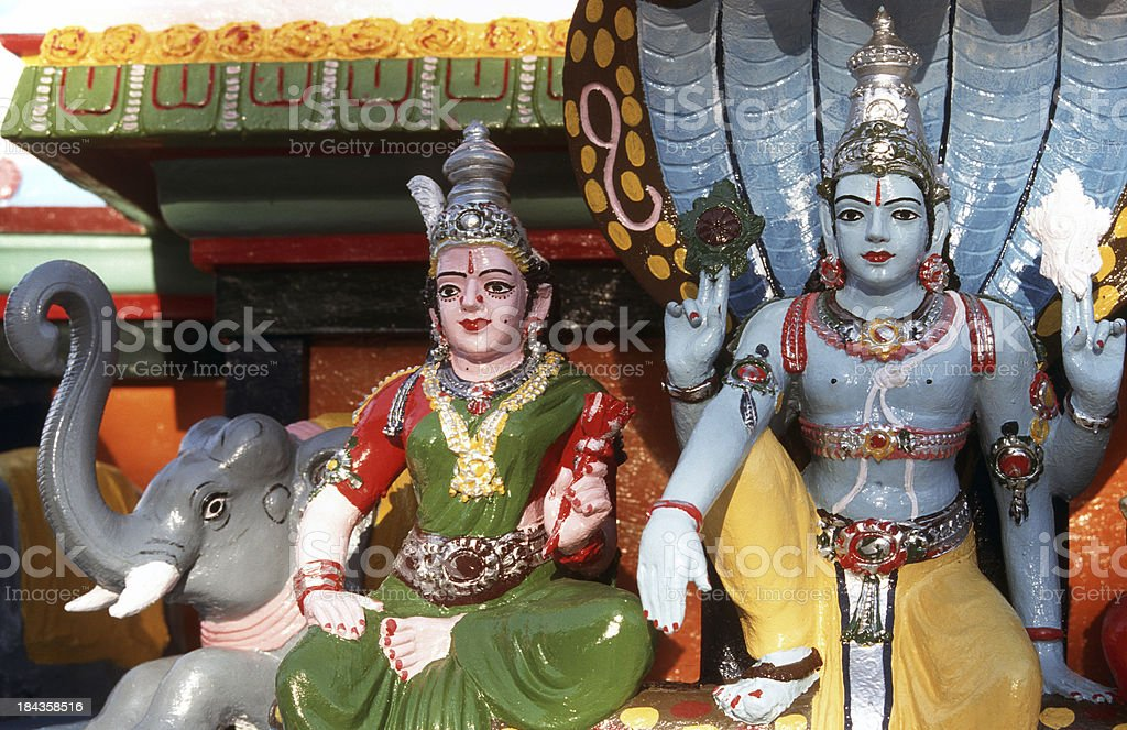 India, Andaman Islands, Port Blair, hindu temple. stock photo