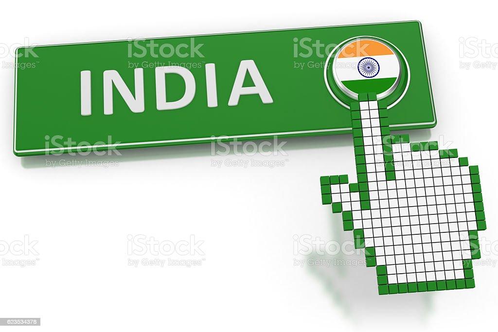 India - Button stock photo