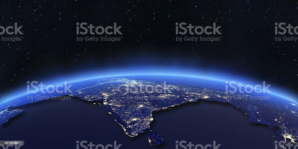 India city lights map royalty-free stock photo