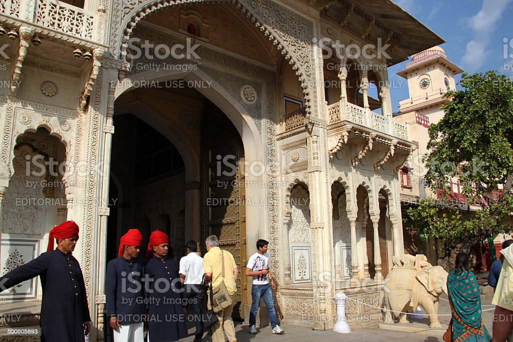 India: City Palace in Jaipur stock photo
