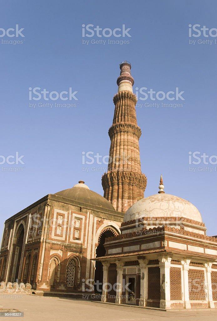 India, Delhi - Qutab Minar royalty-free stock photo