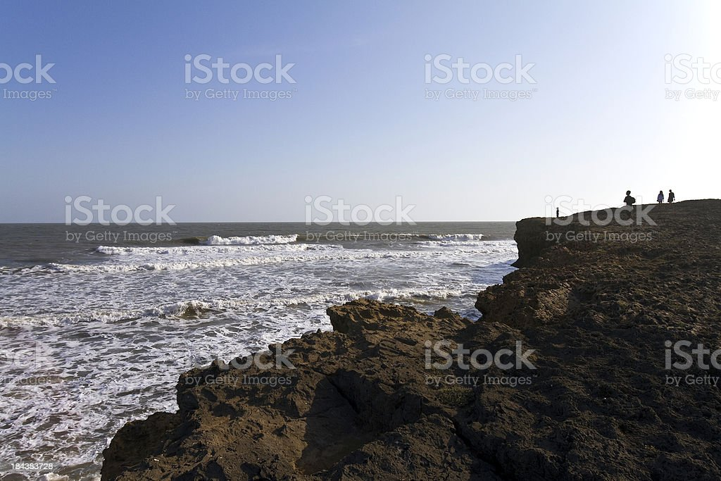 India, Diu, ocean waves, Arabian Sea. stock photo