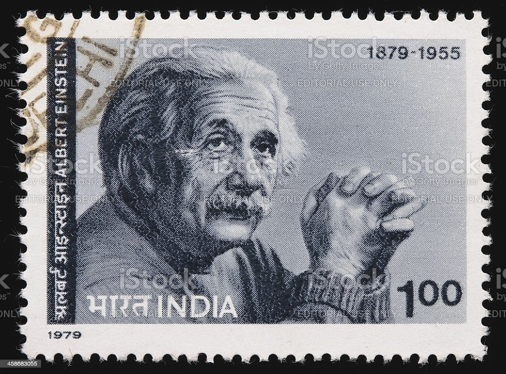 India Einstein postage stamp stock photo