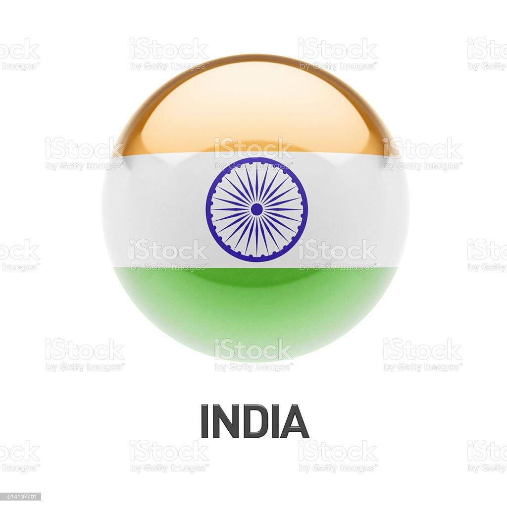 India Flag Icon stock photo
