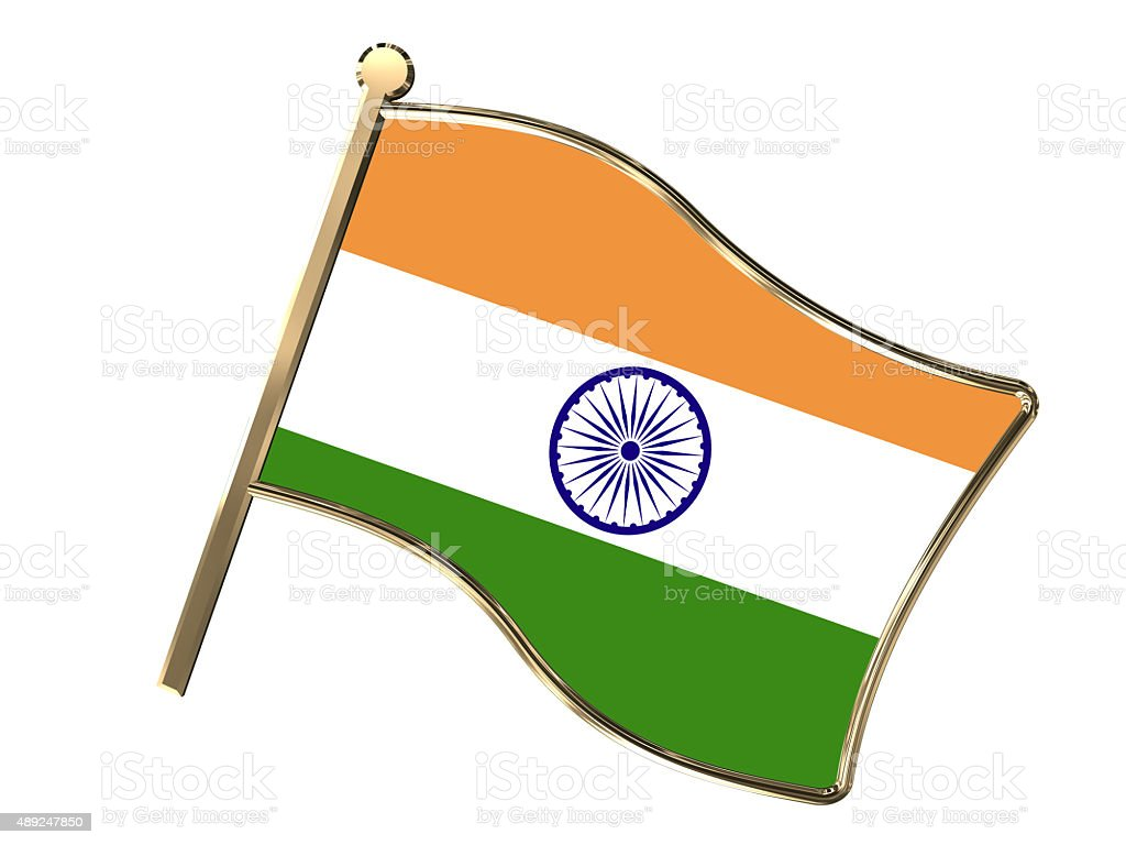 India flag insignia stock photo