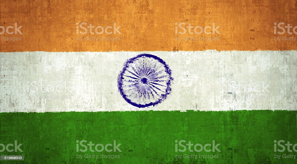 India Flag stock photo