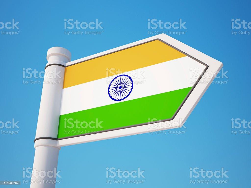 India Flag Sign stock photo