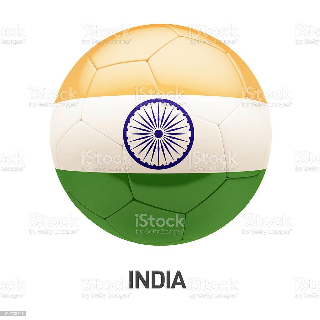 India Flag Soccer Icon stock photo