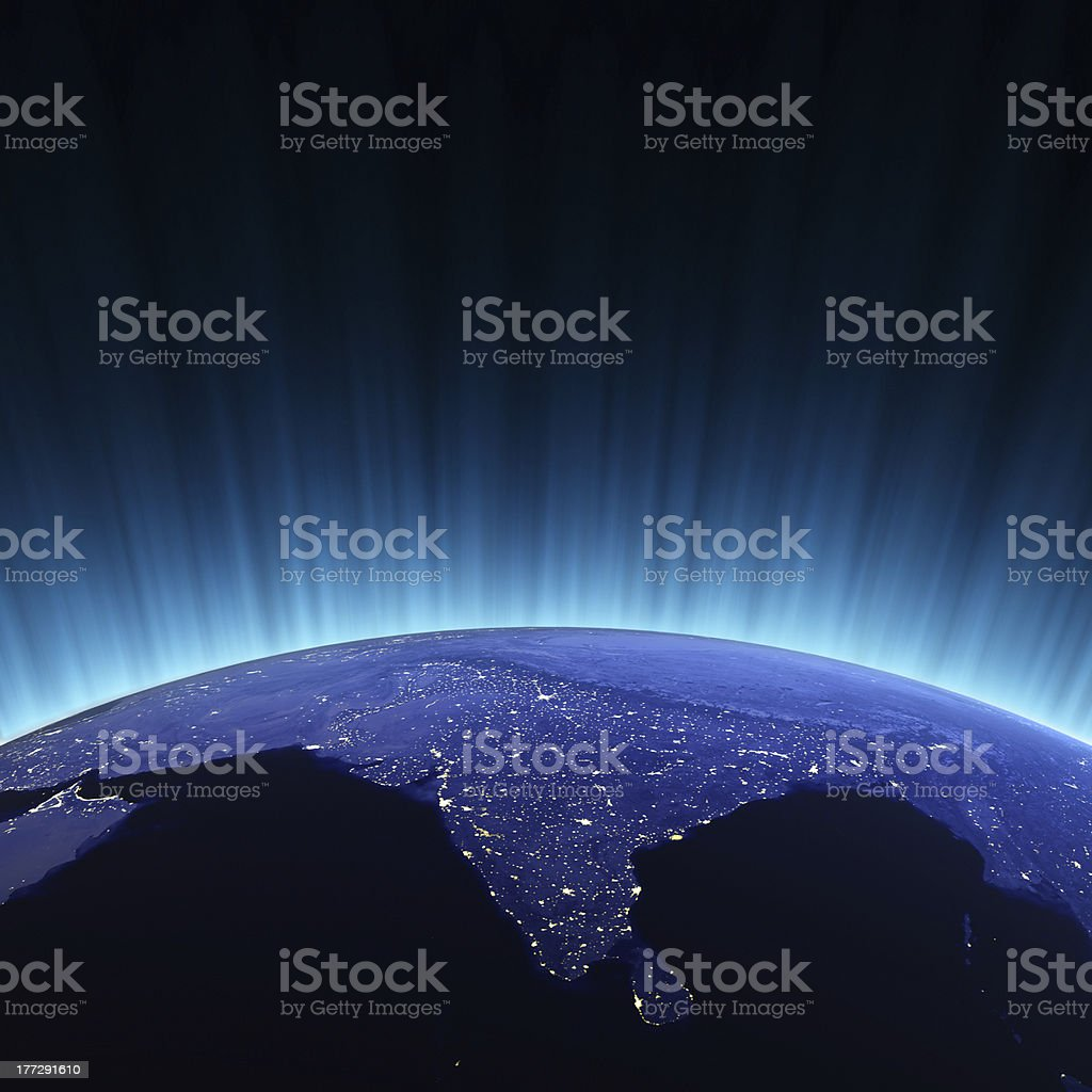 India from space royalty-free stock photo