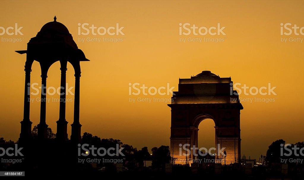India Gate at Dusk stock photo