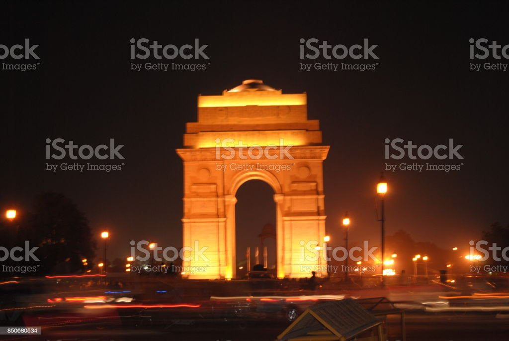 India Gate by Night stock photo