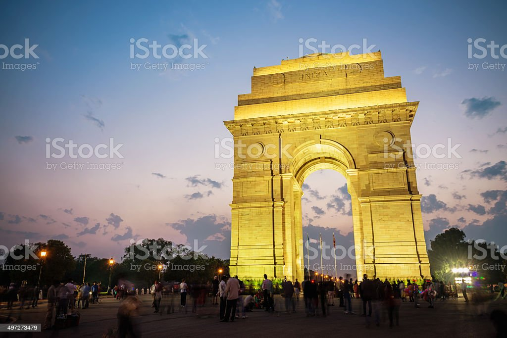 India Gate, Dehli stock photo