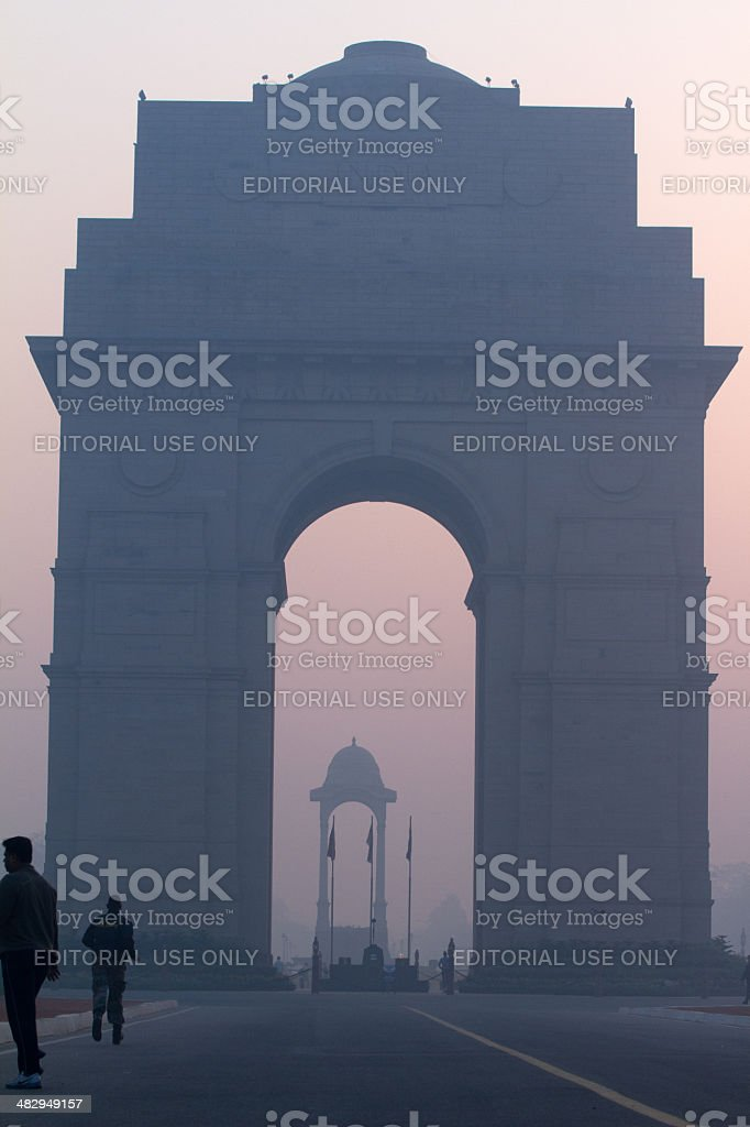 India Gate during bad air conditions royalty-free stock photo