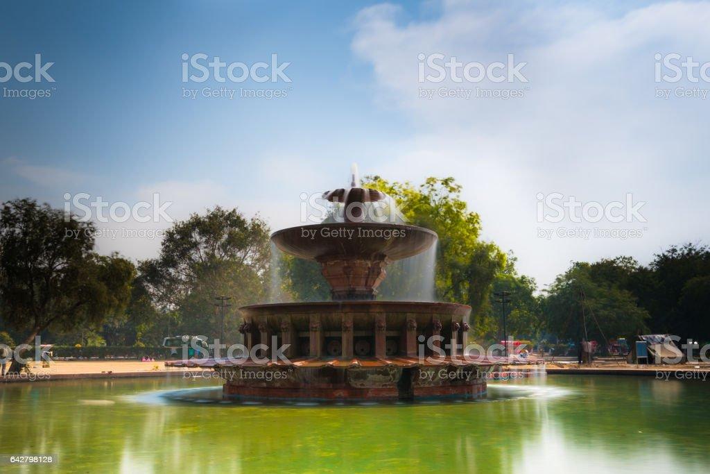 India Gate Fountain stock photo