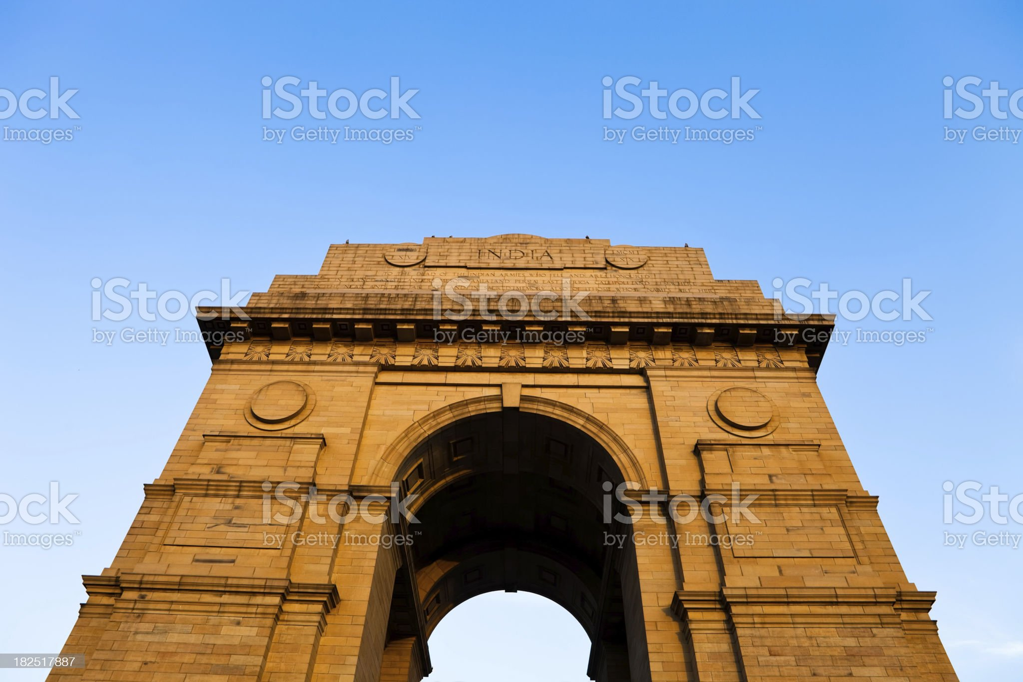 India Gate in Delhi royalty-free stock photo